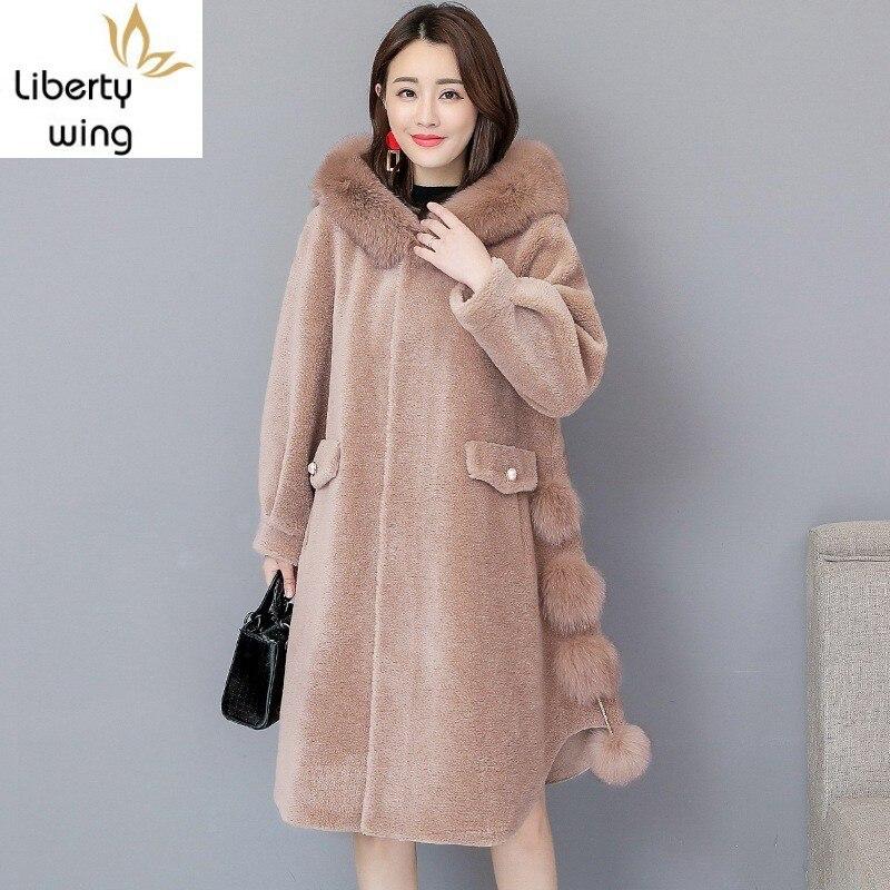 Top Quality Women Fur Mid Long Coat Plus Size Loose Fit Fluffy Overcoat Warm Female Comfort Soft Faux Sheep Shearing Coats