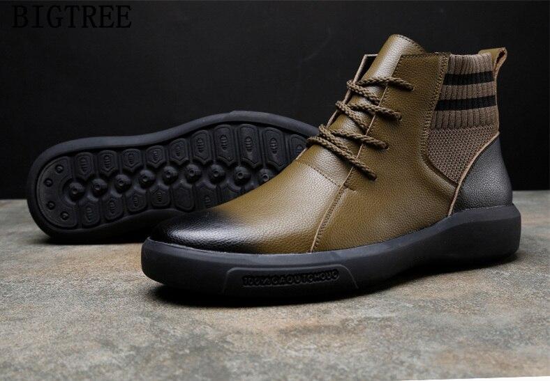 de tornozelo homens sapatos de inverno sapatos de homem