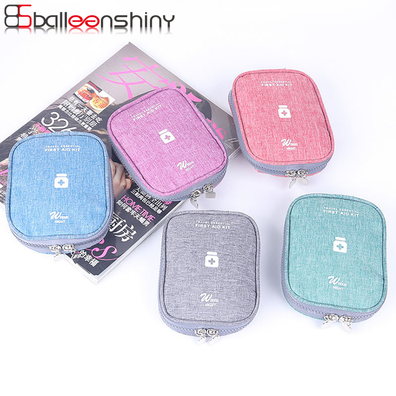 BalleenShiny Oxford Portable Medical Storage Bag First Aid Kit Emergency Survival Travel Medicine Divider Storage Organizer