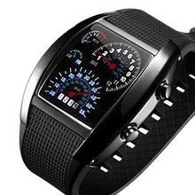 Tvg unqiue дизайн tonneau watche мужские светодиодные бинарные