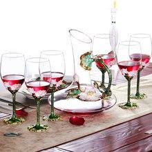 Европейский Хрустальный набор графинов для красного вина эмалевые