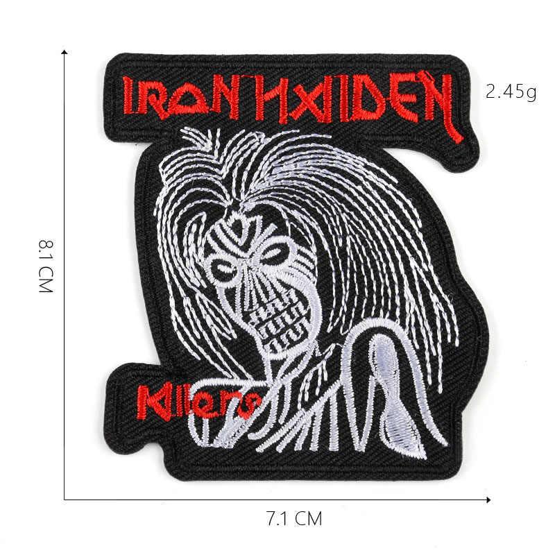 ロックヘビーメタルバンドパッチ Diy パンク刺繍ミシンアイアンでパッチアップリケ熱のためのデニムジャケット