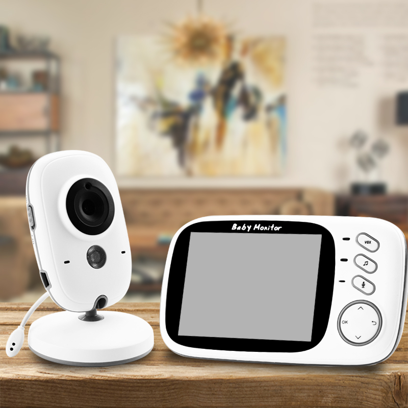 Audio Talk Night Vision Wireless Video Color Baby Monitor With 3.2Inches LCD 2 Way Surveillance Security Camera Babysitter VB603
