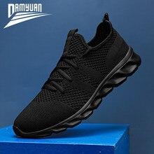 Damyuan/Мужская обувь размера плюс 47, мужская повседневная обувь 2020, летние высококачественные сетчатые кроссовки, легкие дышащие мужские крос...