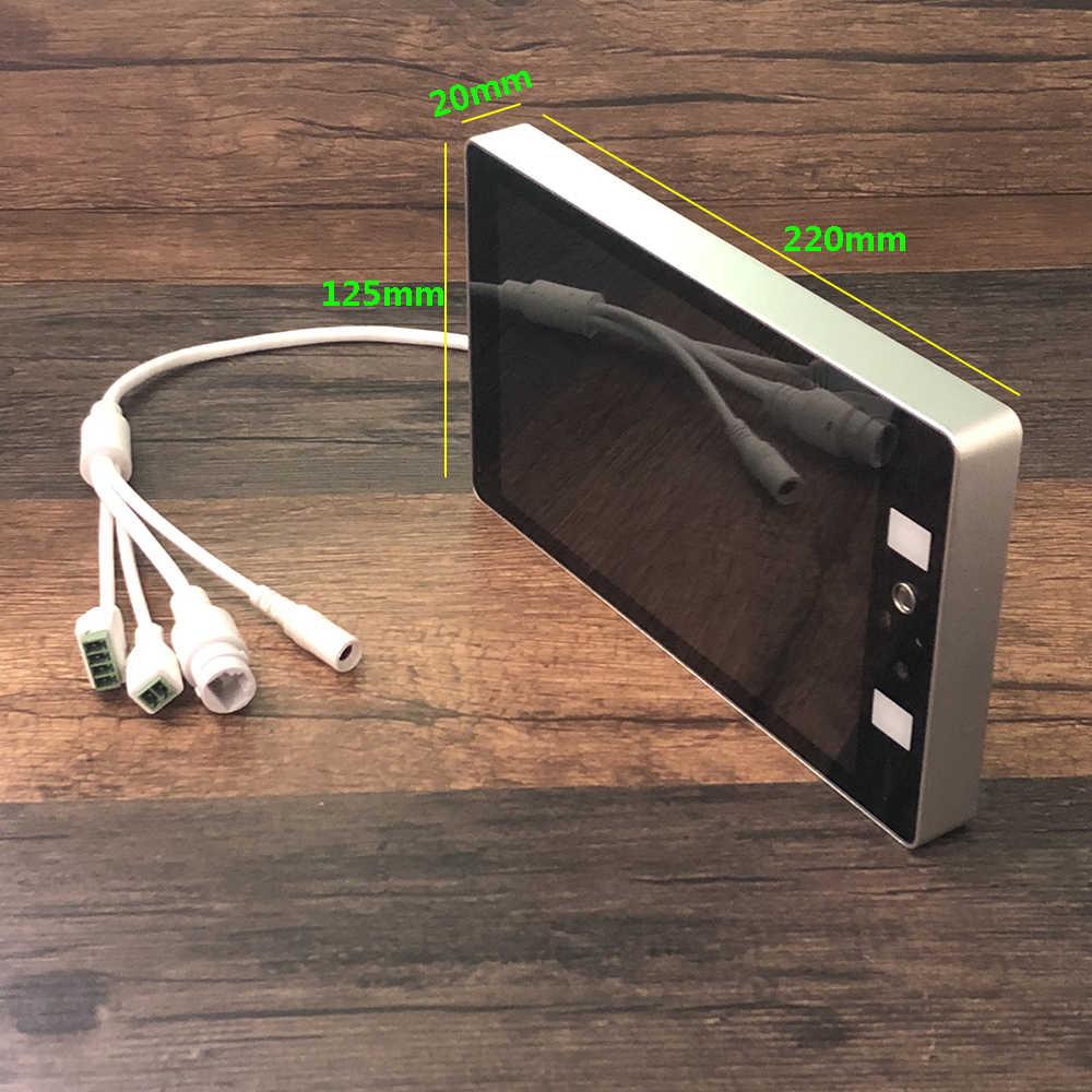 AI термо-камера с распознаванием лица 2MP HD тепловое изображение измерение температуры тела маска Обнаружение система контроля доступа