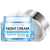 LAGUNAMOON Face Cream Skin Renewing Night Cream For Face Peptide Complex Hyaluronic Acid Hyaluronic Face Moisturizer For Women 1