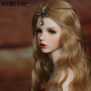 Image 1 - Bybrana BJD פאת הוגן גודל 1/3 1/4 1/6 1/8 ארוך גל טמפרטורה גבוהה סיבי שיער עבור בובות