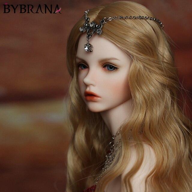 Bybrana BJD פאת הוגן גודל 1/3 1/4 1/6 1/8 ארוך גל טמפרטורה גבוהה סיבי שיער עבור בובות