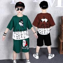 Children Clothes 2020 Summer School Boys Tracksuit Cotton T-shirt+Shorts 2Pcs Outfits Kids Casual Clothing Sets