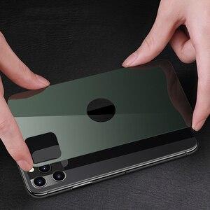 Image 3 - Téléphone étui pour iphone 11 Pro luxe dur mince dos verre trempé et aluminium métal étui housse pare chocs pour Apple iPhone 11 Pro Max
