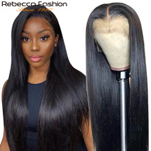 Rebecca Straight Lace Frontal Human hair Wigs 13x4/360 Frontal Wigs Pre Plucked Transparent Part Lace Front Human Hair Lace Wigs