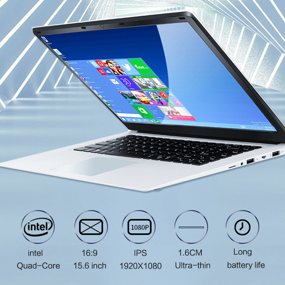 15 Inch Laptop With 8GB RAM 1TB 512G 256G 128G 64G SSD Notebook Computer Quad Core Netbook Students Ultrabook With Win10 OS