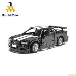 MOC Skyline R34 Endurance sports car building block Technical Racing Car 23809 MOC Model Bricks Toys for Boys