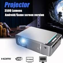 T6 lcd проектор 1280P HD 3500 люмен Мини светодиодный 3D проектор домашний кинотеатр проектор bluetooth wifi USB HDMI VGA 1+ 16G Android Версия