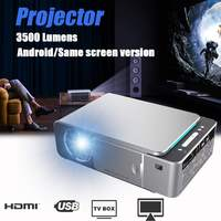 T6 LCD Projector 1280P HD 3500Lumens Mini LED 3D Projector Home Theater Beamer bluetooth WIFI USB HDMI VGA 1+16G Android Version