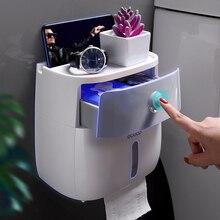 مقاوم للماء حامل ورق المرحاض البلاستيك ورقة المناشف حامل الحائط الحمام الجرف صندوق تخزين مناديل حمام المحمولة حامل