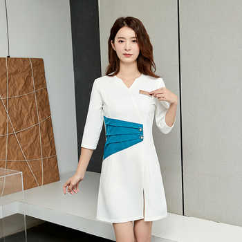 Stewardess fashion beautician beauty salon working clothes woman Receptionist Business atmosphere - DISCOUNT ITEM  15 OFF All Category