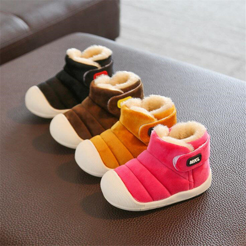 MHYONS Winter Toddler Baby Snow Boots Shoes Warm Plush Soft Bottom Baby Boys Girls Boots Flannel Winter Snow Boot Kids Shoes