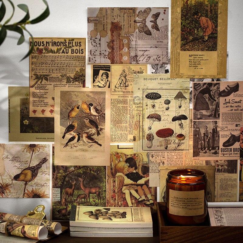60 unidades/pacote vintage cardstock almofada de papel planeta floral pintura scrapbooking pacote de papel para diy craft