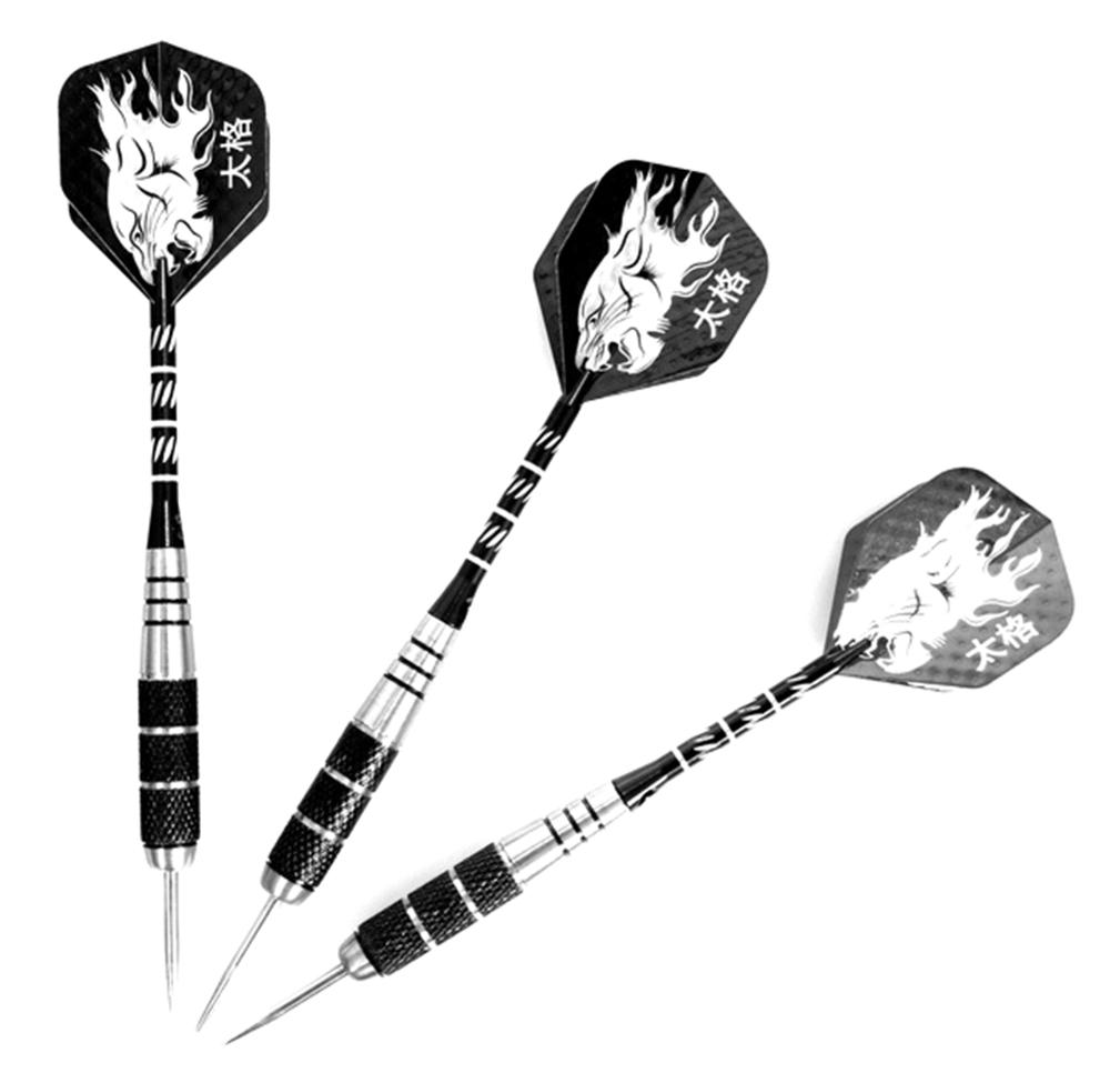 3Pcs Nice Shafts Flight <font><b>Darts</b></font> Steel Grid Point Needles Wing Barrel <font><b>Tungsten</b></font> Steel Needle Tip <font><b>Darts</b></font> with Flights for Sports image
