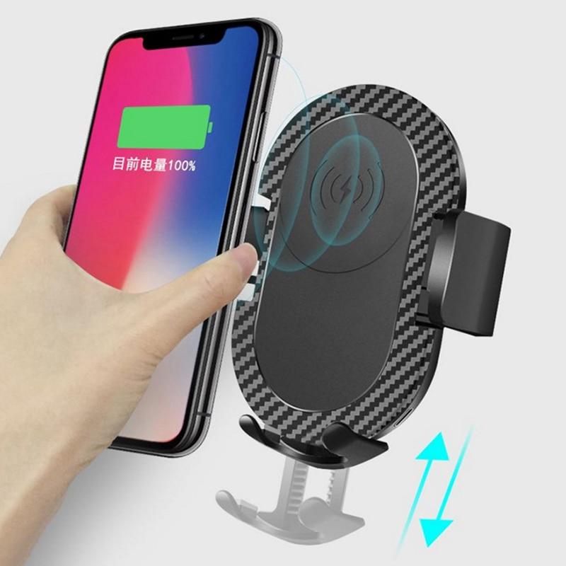montagem do telefone do carro carregador de carregamento sem fio ar ventilacao clipe titular suporte universal
