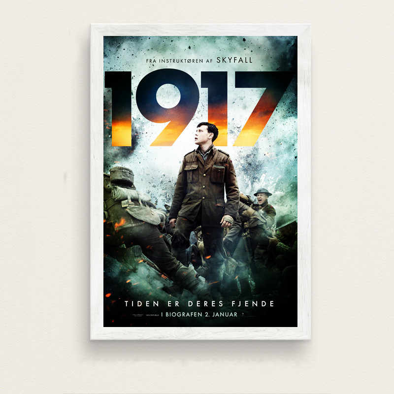 1917 movie poster wall stickers copperplate posters white posters stickers film wallpapers
