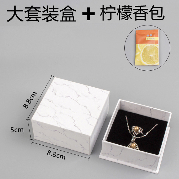 2018 New Style White Jewlery Box Ring Earrings And Necklace Set Accessories Gift Box Silver Jewelry Packing Box