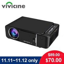 جهاز عرض محمول فائق الدقة VIVICINE 1280x720p ، خيار أندرويد 10.0 HDMI USB 1080p مسرح منزلي برويكتور واي فاي مصغر Led متعاطي المخدرات