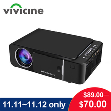 VIVICINE 1280x720p projecteur Portable HD, Option Android 10.0 HDMI USB 1080p Home cinéma Proyector WIFI Mini projecteur Led