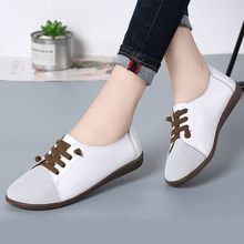Women Casual Shoes Flats Plus Size Low-cut Slip-on Loafers Woman Comfortable Fashion Leather Shoes High Quality Ladies Sneakers cootelili women sneakers platform casual shoes woman flats slip on letter loafers ladies black gray blue red plus size 40 41 42