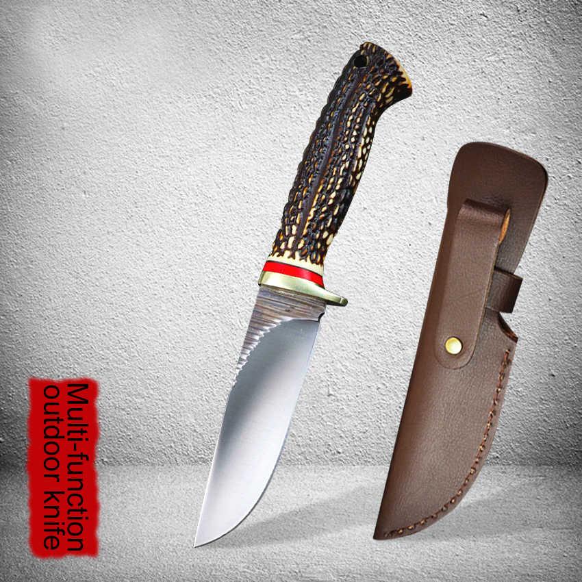 Gelişmiş av bıçağı ABS kolu kamp survival taktik sabit bıçak avrupa kuzey amerika av bıçağı düz bıçak