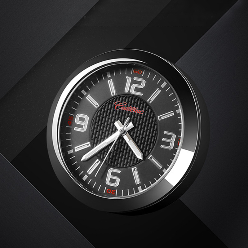 Car Clock Ornaments Interior Auto Watch Automotive Dashboard Time Display Quartz clock Accessories for Cadillac