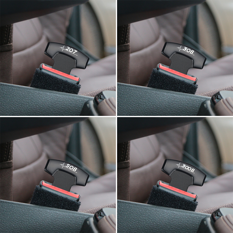 1pcs Car Belt Buckles Safty Belt Alarm Canceler Stopper for Peugeot 206 207 208 306 307 308 407 408 508 2008 3008 accessories