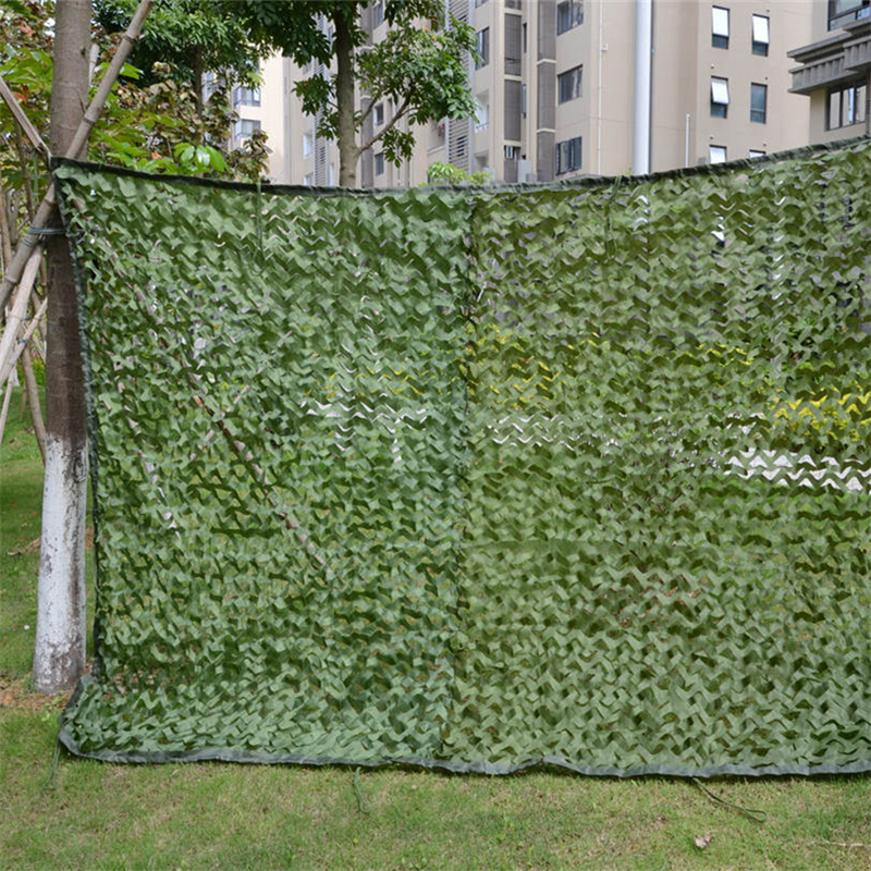 2x6m 3x4m 3x5m Camouflage Nets Mesh Screen Ghillie Suits 150D Polyester Oxford Sun Shelter Outdoor Hunting Tactical Ghillie Suit