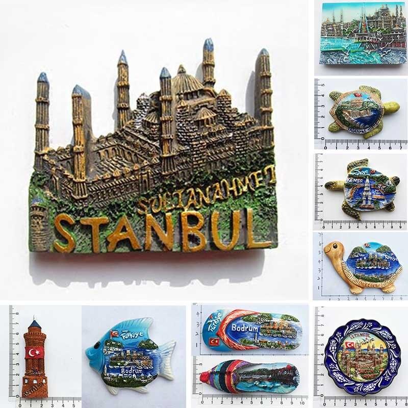 Türkei Istanbul Kühlschrank Magnet Souvenir Bodrum Alanya Kemer 3d Tourismus Magnete Home Decor Kühlschrank Magneten Geschenk Ideen