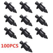 Rebite preto para adorno de corpo de carenagem, para Honda ATV, prendedor de painel, clipes parafusos, 100 peças, 6mm, dropshipping, motocicletas, acessórios, peças