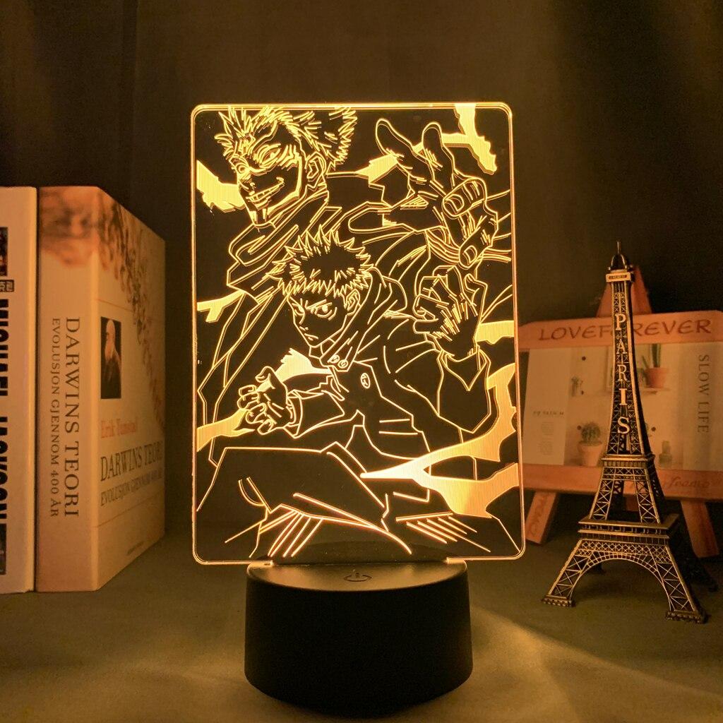 H759d78fb77de421e8003733e8b49f7b7D Luminária Anime jujutsu kaisen ryomen sukuna led night light lâmpada para decoração do quarto presente de aniversário yuji itadori luz jujutsu kaisen gadget