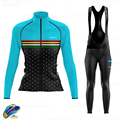 New Spring Autumn Breathable Cycling Clothing Women Long Sleeve Jersey Suit Outdoor Riding Bike MTB Cycling Jersey Bib Pants Set