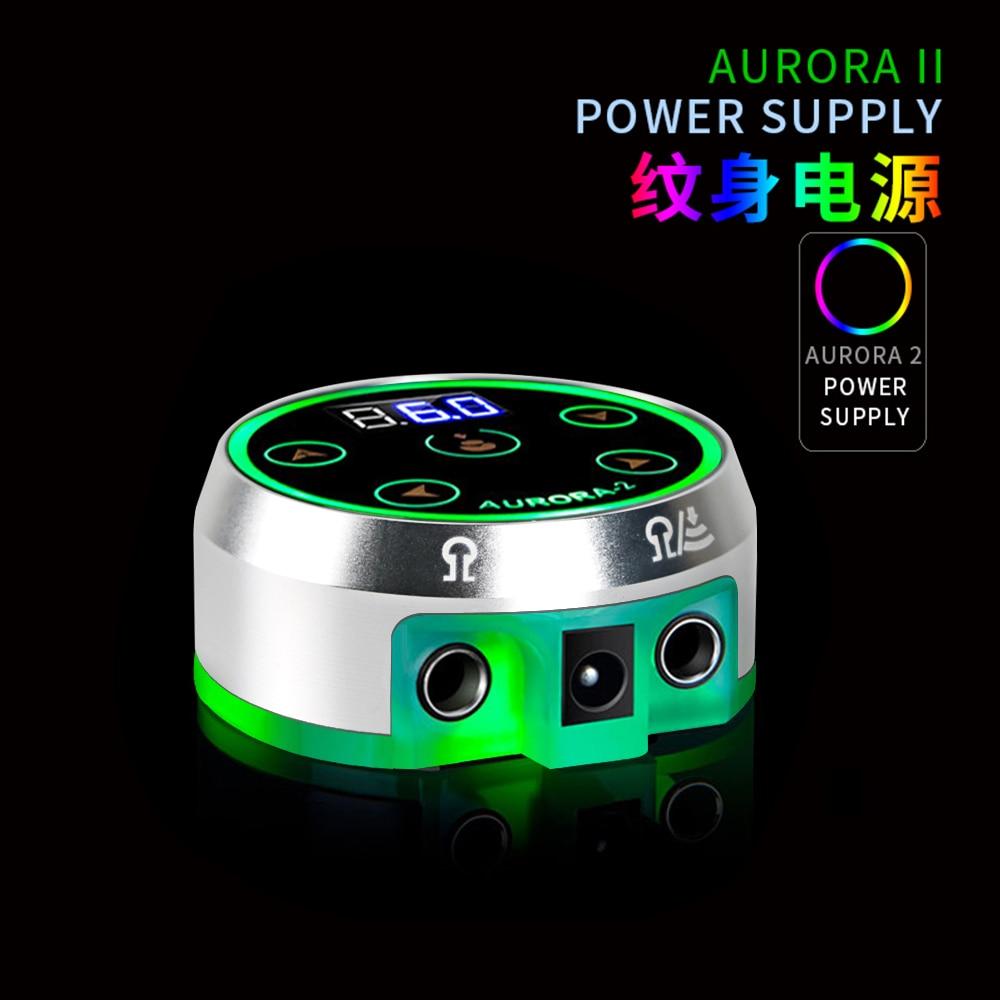 Tattoo Power Supply Digital Power LCD Display Aurora II Silver For Tattoo Machine