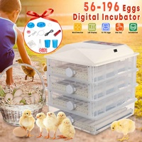 98/196 Eggs Automatic Egg Incubator LCD Digital Farm Hatchery Machine for Farm Chicken Quail Brooder Egg Incubator