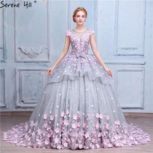 Image 3 - Roze Bloem Baljurk Trouwjurk Bruidsjurk Robe De Mariage Mariee Princesa Trouwjurken 2020 Real Photo HA2043