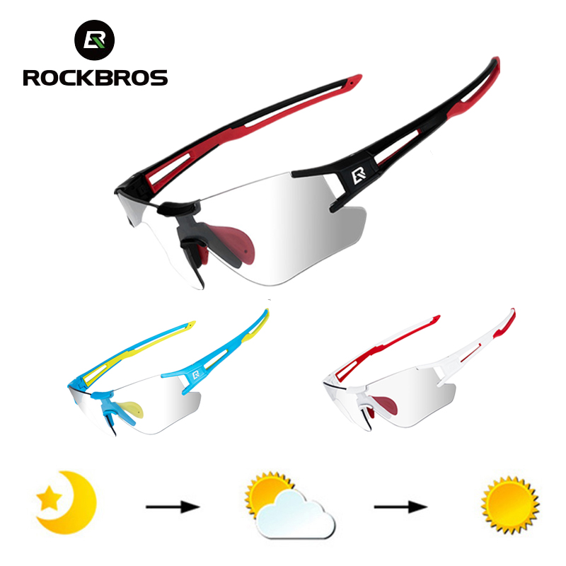 ROCKBROS Sports Sunglasses Technical-Eyewear Bicycle Cycling-Photochromic UV400 Goggles