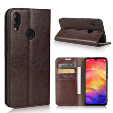 360 Natural Genuine Leather Skin Flip Wallet Book Phone Case Cover On For Xiaomi Redmi Note 7 Pro Note7 7Pro 32/64/128 GB Xiomi