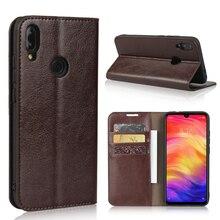 360 naturel cuir véritable peau portefeuille à rabat livre housse de téléphone sur pour Xiaomi Redmi Note 7 Pro Note7 7Pro 32/64/128 GB Xiomi