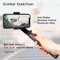 Anti-Shake Smartphone de cardán portátil estabilizadores trípode/palo Selfie inalámbrica Bluetooth Control remoto extensible plegable