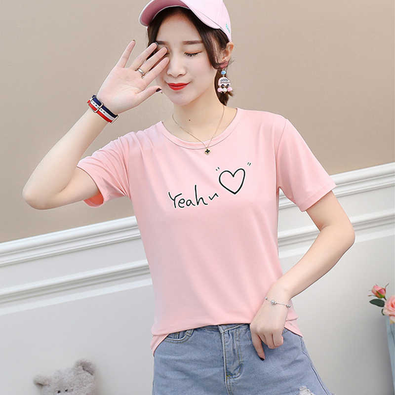 New Women T-shirt Casual Harajuku Love Printed Letter Tops Tee Summer Female T Shirt Short Sleeve Tshirt Women Clothing