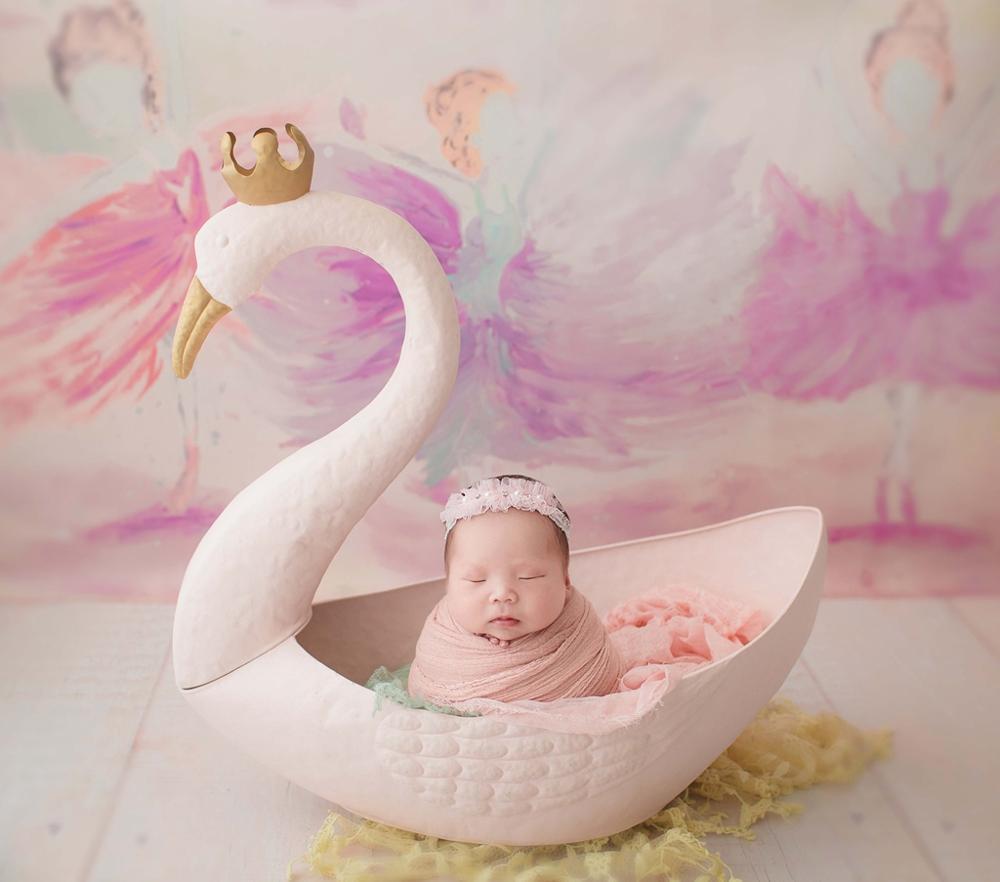 Newborn Swan Bowl Baby Photo Prop Beautifully Baby Animal Bucket Newborn Photography ,#P2902
