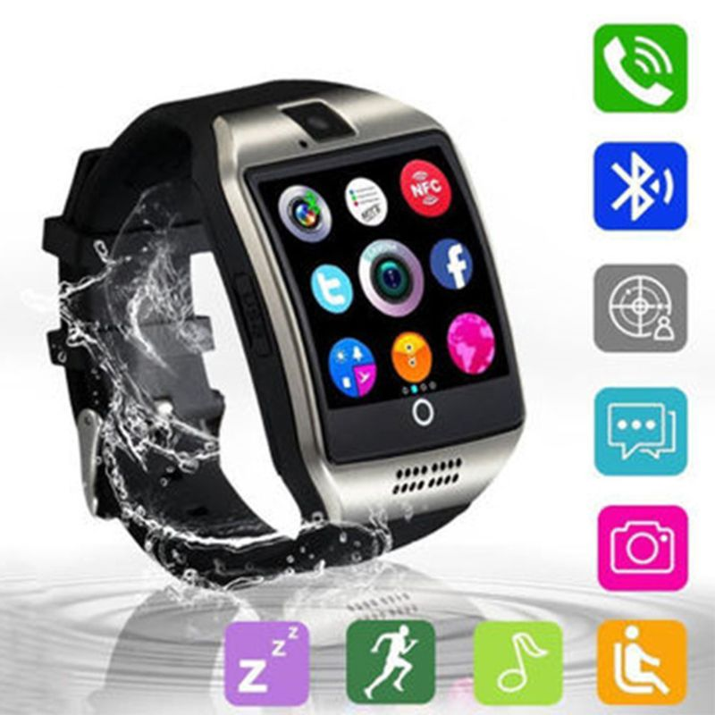 Q18 Bluetooth Smart Watch with Touch Screen Camera Support SIM Card SD Card FM Radio