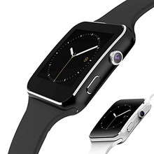 Bluetooth x6 relógio inteligente homem com câmera tela de toque relógio de pulso smartch para android ios telefone esportes smartwatch feminino sim cartão