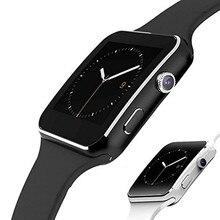 Reloj inteligente deportivo X6 para hombre, reloj inteligente deportivo con Bluetooth, cámara, pantalla táctil y tarjeta Sim para Android IOS
